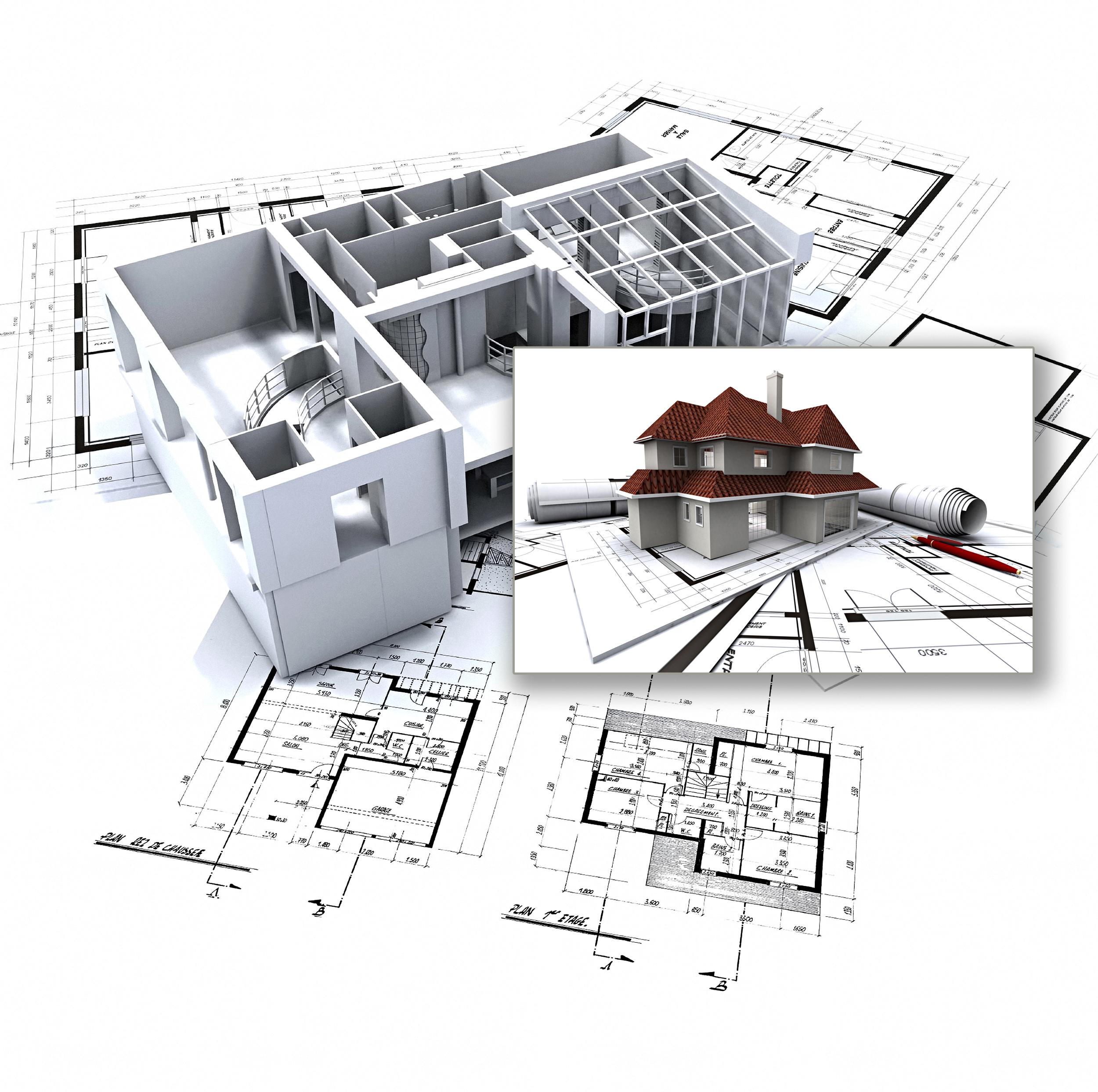 Чертежи домов и коттеджей фото